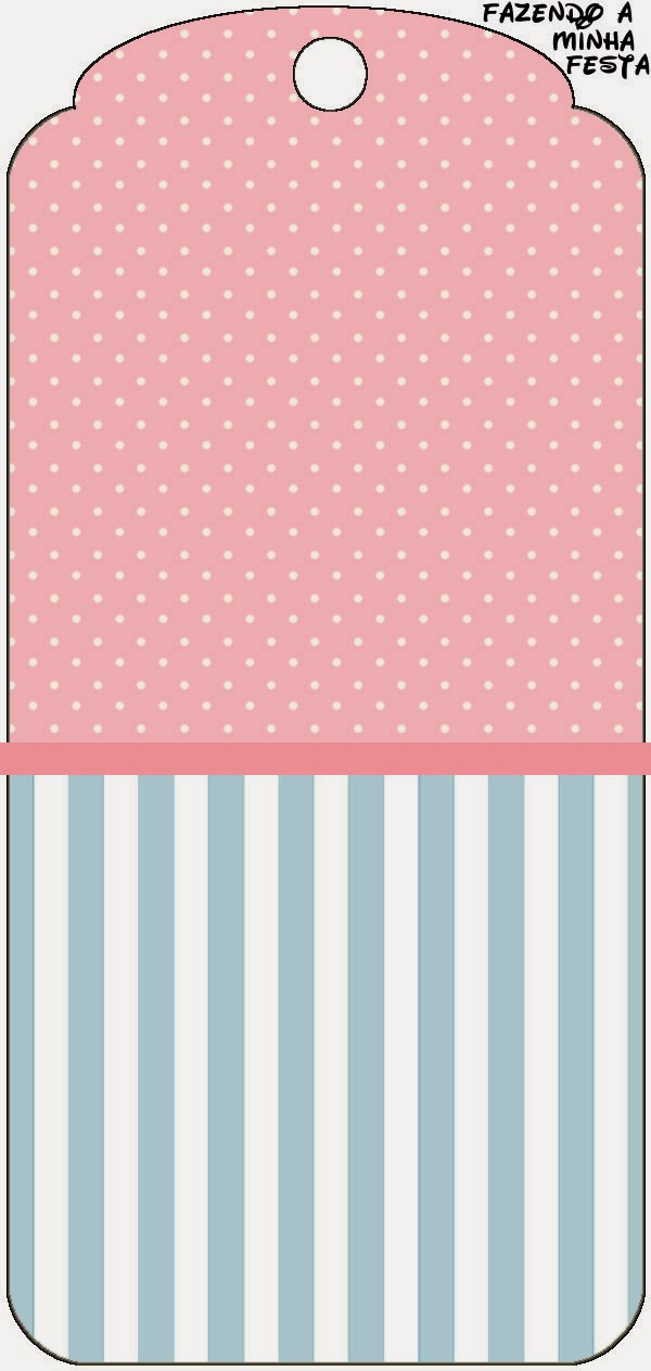 Pink, White and Light Blue Free Printable Tags.