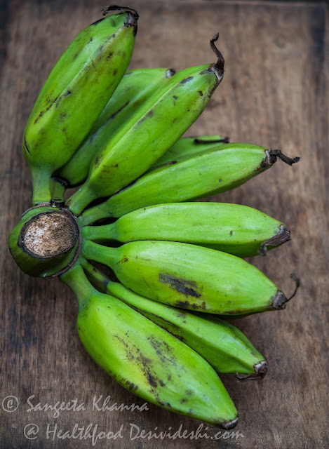kachhe kele or raw plantains