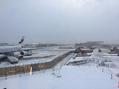 aeropuerto de Helsinki nevado