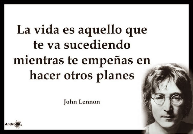 Frase de la cancion beautiful boy de John Lennon