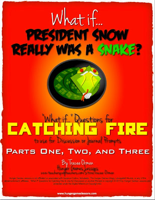 "Catching Fire ""What If..."" Questions www.hungergameslessons.com"