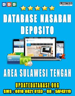 Jual Database Nasabah Deposito Sulawesi Tengah