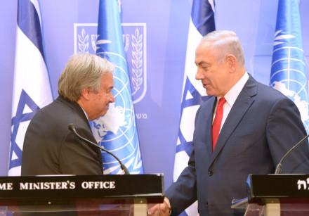 Netanyahu adverte ONU de que Israel não permitirá bases iranianas na Síria e no Líbano