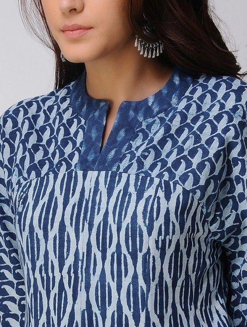 Stand Collar Designs For Kurti : Latest kurtis neck designs images dress design