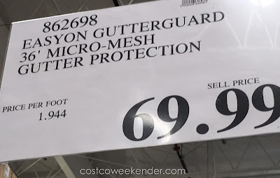 Deal for the EasyOn Gutter Protection System at Costco