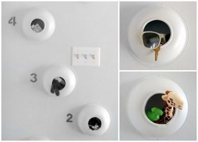 Como hacer cajas colgantes con platos-cuencos