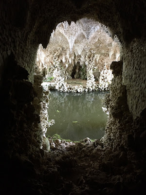 View from inside the crystal grotto, Painshill