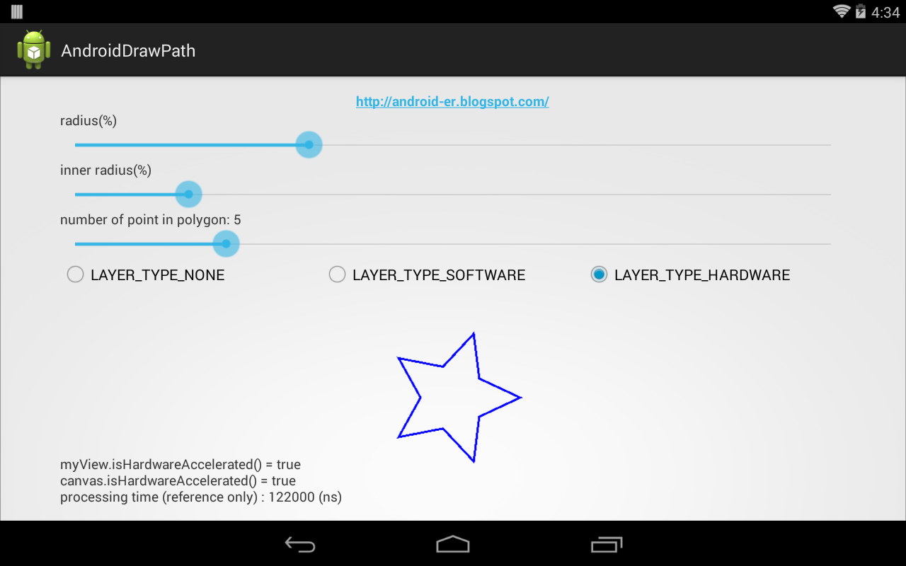 Android-er: Draw star on canvas