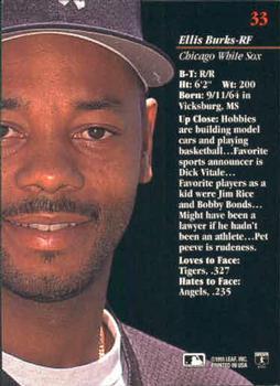 Baseball Cards Come To Life 1993 Studio Ellis Burks