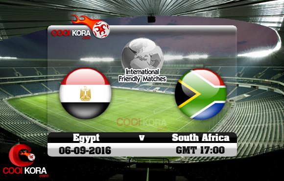 مشاهدة مباراة مصر وجنوب أفريقيا اليوم 6-9-2016 مباراة ودية