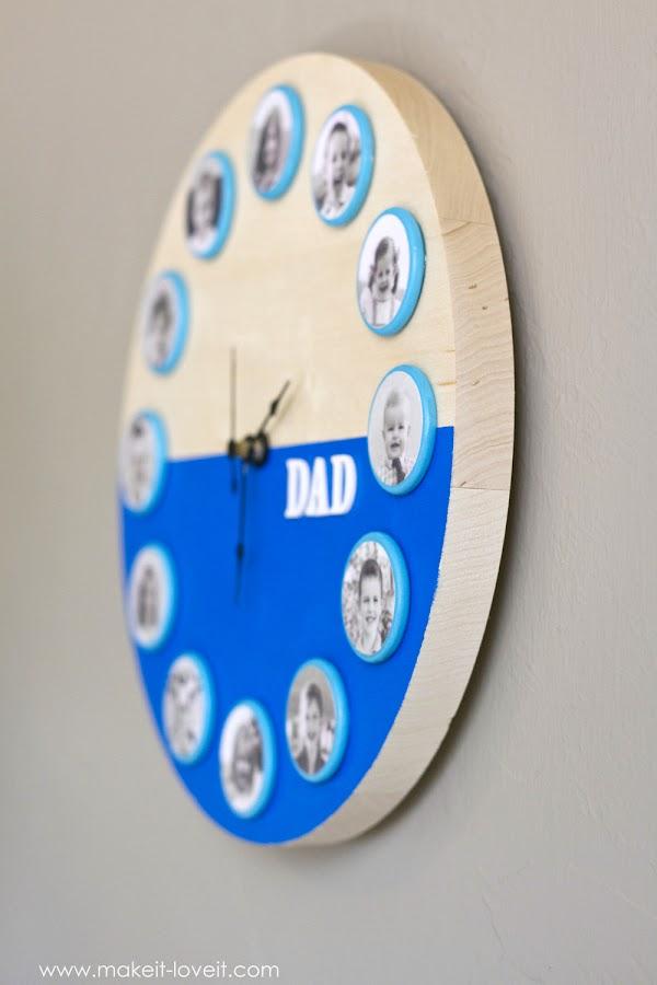 Diy reloj con fotos11