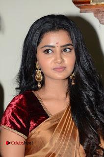 Actress Anupama Parameswaran Stills in Silk Saree with Shatamanam Bhavati Team at Sandhya Theater  0016.JPG