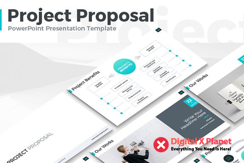 Project Proposal Powerpoint Template Free Download