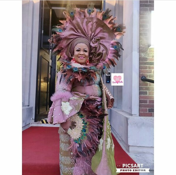 Photos: Nigerian woman, Sylvia Omoniyi wore 9 outfits and more flamboyant Geles for her thanksgiving celebration in London