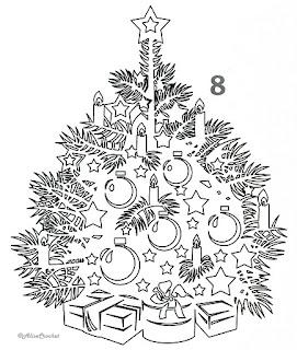 новогодняя ель вытынанка