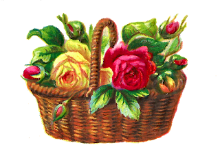 flower rose illustration basket digital