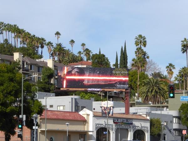 Star Wars Force Awakens film billboard