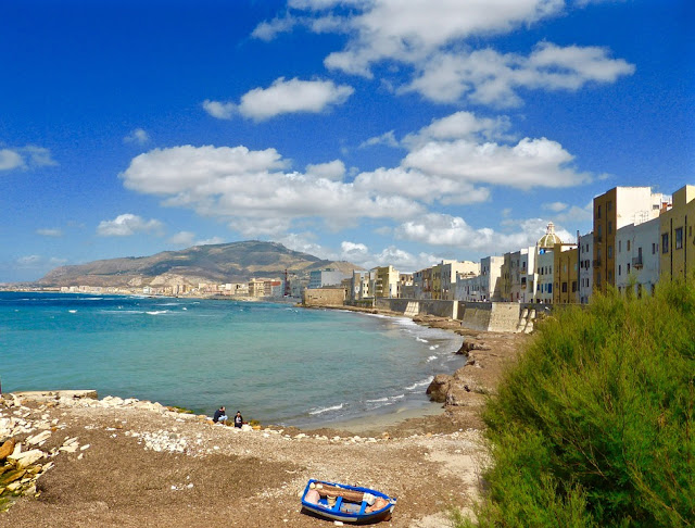view of trapani, sicily, italy