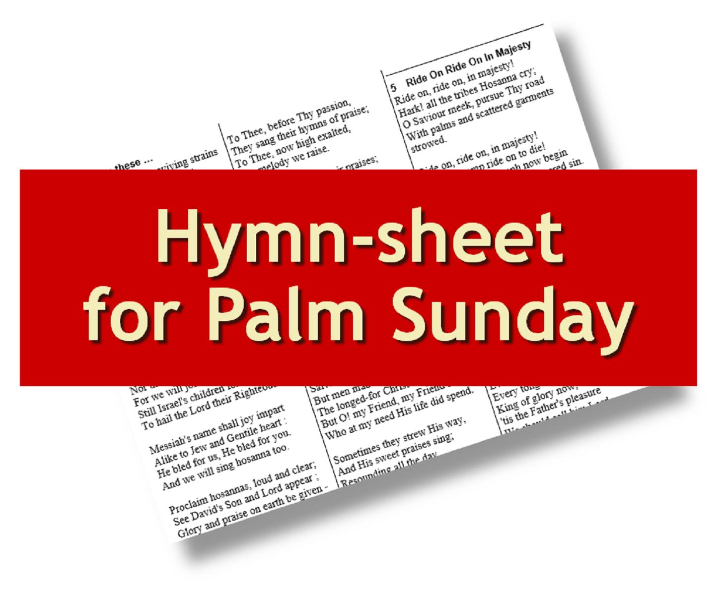 Liturgytools Net Free Hymn Sheet For Palm Sunday