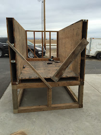 Buiding Nesting Boxes in Pallet Chicken Coop