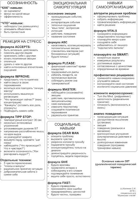 Техники диалектической поведенческой психотерапии на русском (версия С.Калинина)