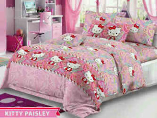 Sprei Hello Kitty Paisley Carlotta