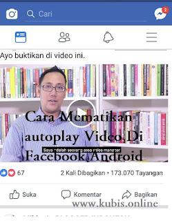 cara mematikan video fb otomatis