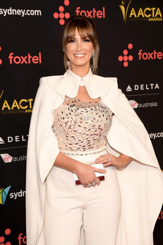 Delta Goodrem Posing at the 7th AACTA International Awards