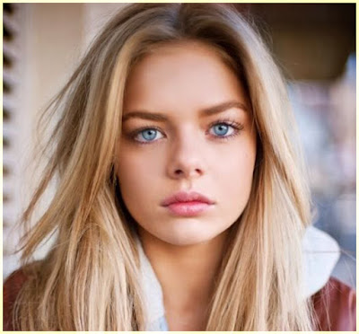 Warm Skin and Blue Eyes - Best Hair Colors That Make Blue Eyes Pop and Fair Skin