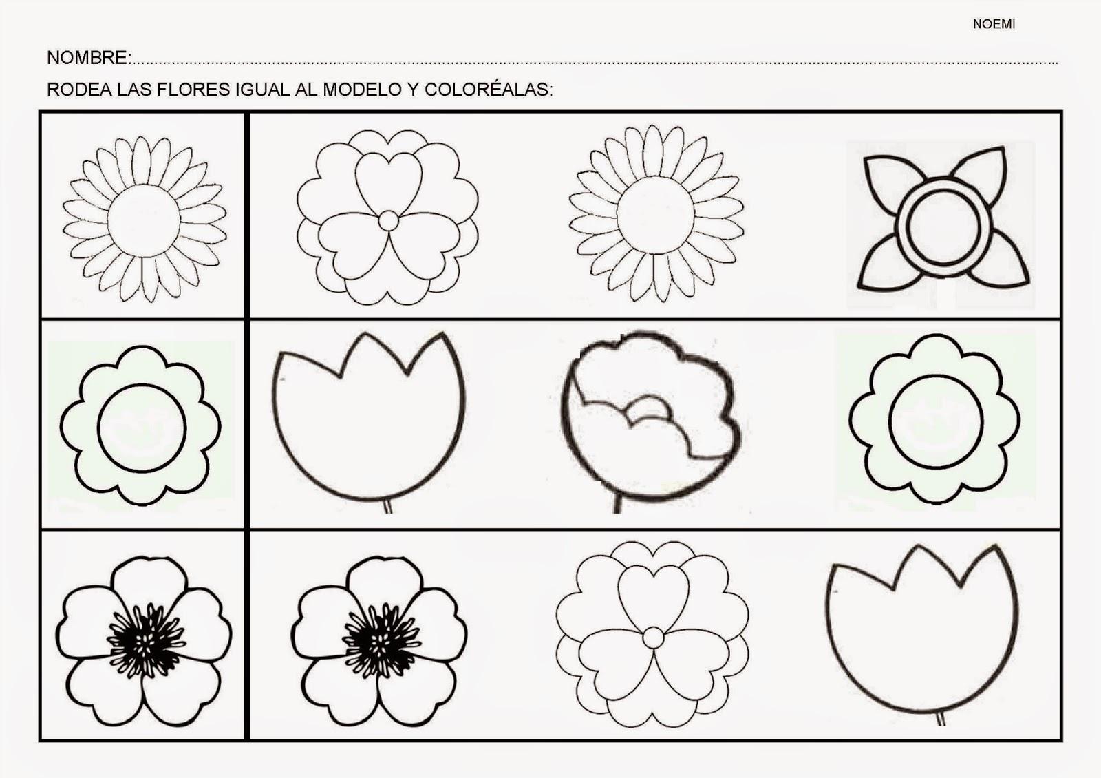 Esos Locos Bajitos De Infantil Fichas De Flores
