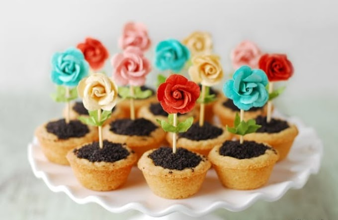 Flower Pot Cookies #dessert #spring