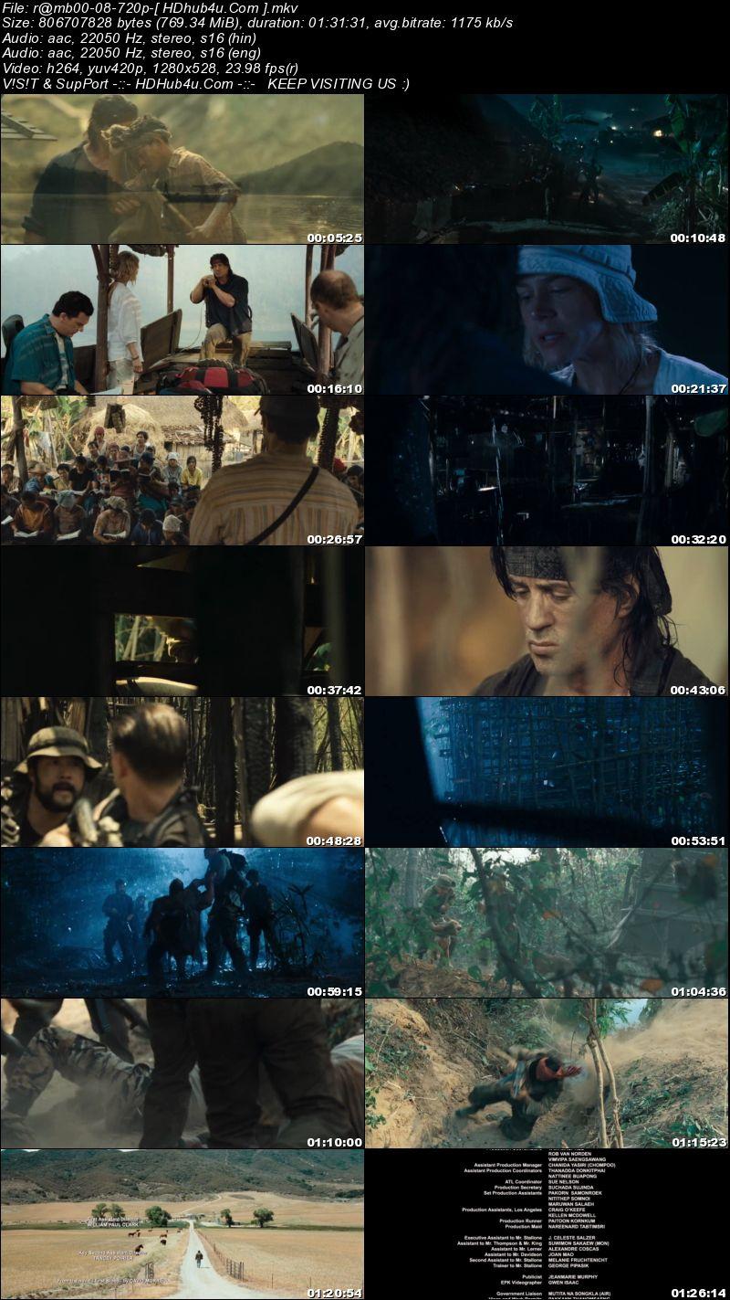 Rambo 2008 Hindi Dual Audio 720p BluRay 750mb Download