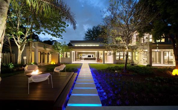 Fotos de jardin fachadas de jardin de casas - Jardines exteriores de casas modernas ...