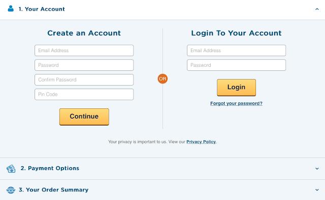 لم يبقى عليك الآن سوى فتح حساب مع الشركة عبر تعبئة المعلومات تحت خيار