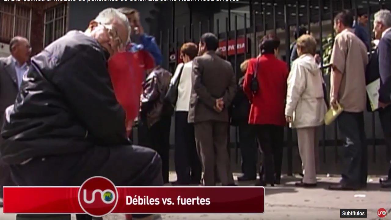 El BID califica el modelo de pensiones de Colombia como Robin Hood al revés