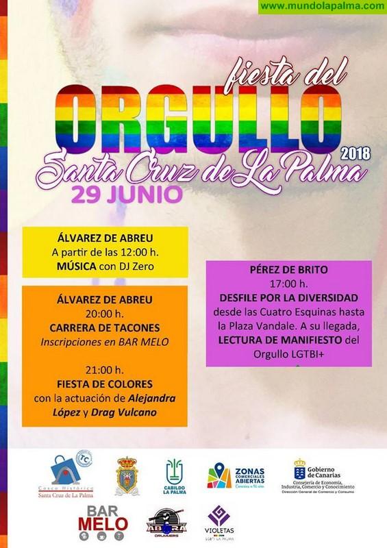 Desfile por la igualdad y Fiesta de Colores para celebrar el Día del Orgullo en Santa Cruz de La Palma