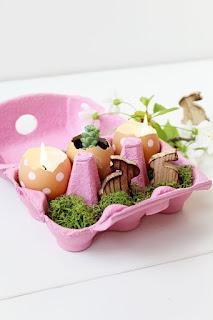 porta candela con porta uova