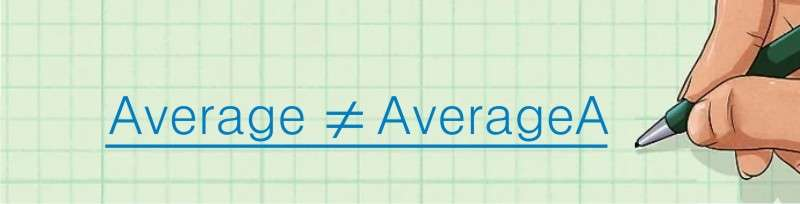 menggunakan AverageA dalam ms. Excel