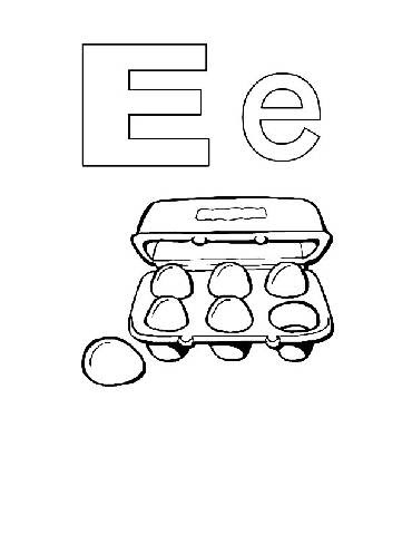 Preschool Coloring Pages : Alphabet Alphabook E >> Disney