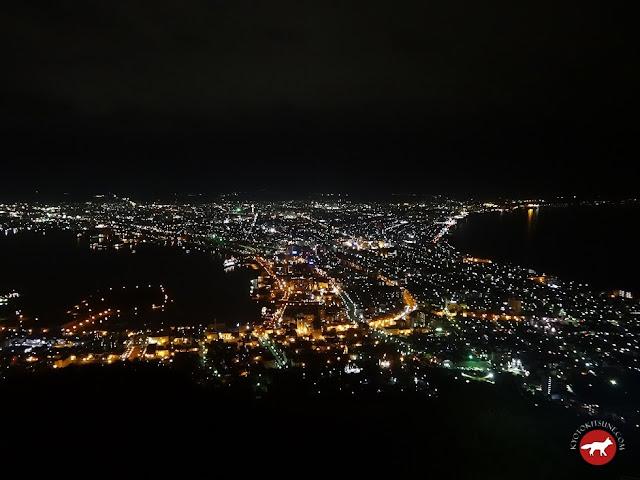 Vue nocturne du mont Hakodate
