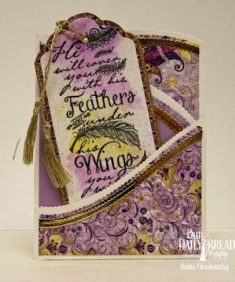 Our Daily Bread Designs, Find Refuge, Grace's Strength, Layered Lacey Ovals, Leafy Edged Borders, Tag Trio, Whimsical Flowers Paper Pad, Z Fold Card, By Robin Clendenning