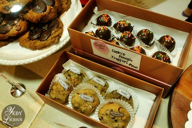 Cookie Dough and other products at Cookie Bar Manila
