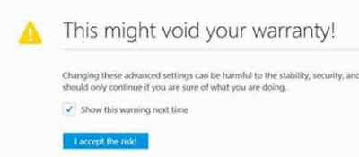 accpet the risk mozilla firefox