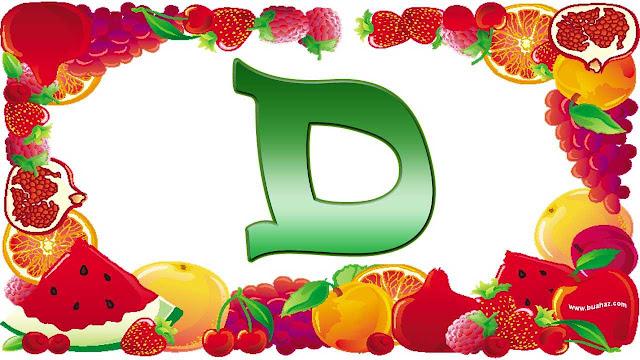 definisi istilah buah dari huruf d