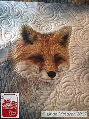 QuiltingBiker Fox face close up