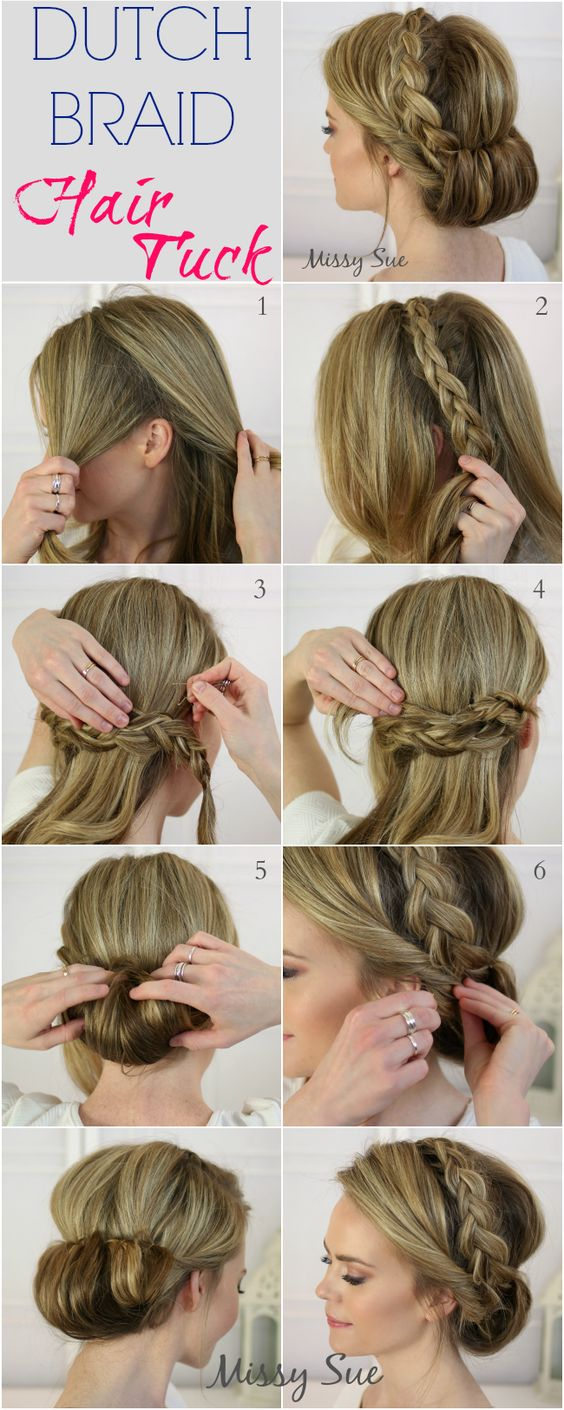 Dutch Braid Hair Tuck Easy Women's Hairstyles