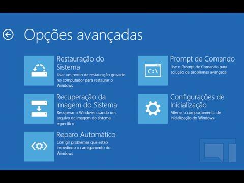 opções avançadas de reparação do windows 10