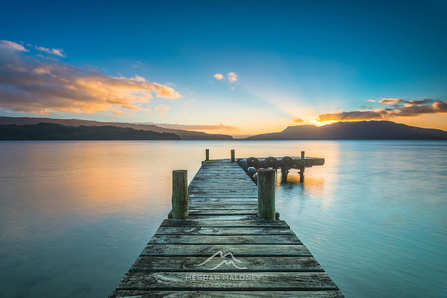 clear sunrise lake tarawera