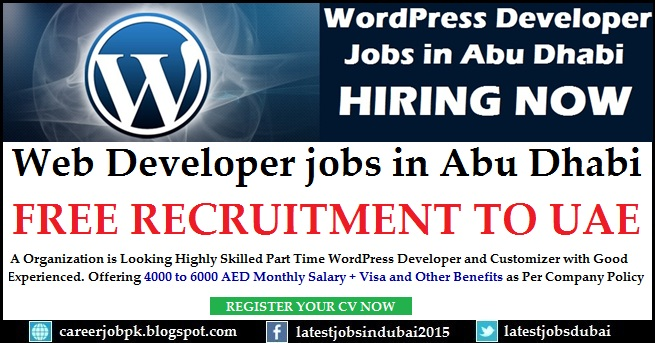 Web Developer Part Time jobs in Dubai