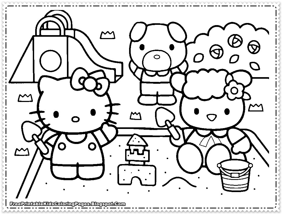 Hello Kitty Coloring Pages For Girls Kids Free
